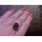 lureme®green anel de esmeralda feito com cristal austríaco