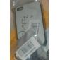 Прозрачный чистый белый ТПУ мягкий чехол для iPhone 4/4S