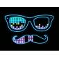 LED-футболка светодиодов Хлопок Новинки 2 батареек AAA