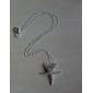 argent pendentif étoile de mer avec strass (pendentif seulement)