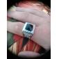 Муж. Жен. Массивные кольца На заказ Любовь Нержавеющая сталь Акрил Искусственный бриллиант Квадратный Геометрической формы Бижутерия
