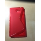S Shape Soft Gel TPU Case for Sony Xperia M2 D2305 D2302 S50h(Assorted Colors)