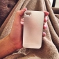 alumínio metal escovado & pc dura caso de volta para o iphone 4 / 4s