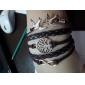 Жен. Браслеты с подвесками Кожаные браслеты Wrap Браслеты Базовый дизайн Дружба Многослойный Ручная работа По заказу покупателя бижутерия