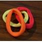(aleatório) 3pc bastante simples e práticas difusas multicolor fortes faixas de cabelo elásticos