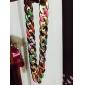 Ожерелье Заявление ожерелья Бижутерия Для вечеринок / Повседневные Модно Сплав Золотой 1шт Подарок