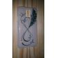 motif plume lueur dans l'étui rigide noir pour Samsung Galaxy s5