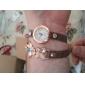 Mulheres Relógio de Moda Quartzo Quartzo Japonês Couro Banda Flor Branco Vermelho Marrom marca
