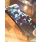 Reflective Glass Pattern Black Frame Back Case for iPhone 5/5S