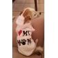 Gatos / Cães Camisola com Capuz Rosa Roupas para Cães Inverno Carta e Número
