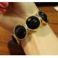 Z&X®  Big Rhinestones Decorated Bracelet for Girls - Black + Goldena