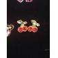 스터드 귀걸이 크리스탈 귀여운 스타일 합금 체리 Fruit 레드 보석류 용 일상