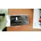 Защитные ПУ кожаный чехол для BlackBerry Z10 (черный, белый)