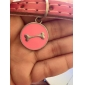 Dog ID Tag Tag Safety Bone Red Green Blue Yellow Purple Rose Stainless Steel