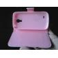용 삼성 갤럭시 케이스 케이스 커버 지갑 카드 홀더 스탠드 플립 마그네틱 풀 바디 케이스 부엉이 인조 가죽 용 Samsung S4 Mini