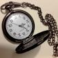Masculino Relógio de Bolso Quartzo Lega Banda Preta Preto