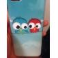 Lovely Owls Soft Case TPU IMD Glossy para iphone 5C