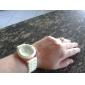 Mulheres Relógio de Moda Relógio Casual Quartzo Silicone Banda Doce Preta Branco Azul Vermelho Marrom Rosa Roxa Amarelo Cáqui