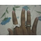 Ring Adjustable Jewelry Alloy Women Band Rings8 Gold / Silver