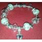 сладкие 6.3cm женщин розовый кристалл прядь браслет (1 шт)
