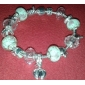 Sweet 6.3cm Women's pink Crystal Strand Bracelet(1 Pc)