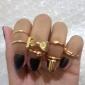 Anéis Pesta / Diário / Casual Jóias Liga Feminino Anéis Meio Dedo5