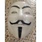 Engrossar Branco Máscara V de Vingança da cara cheia assustador Gadgets Cosplay para festa a fantasia de Halloween