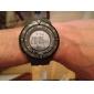 Masculino Relógio Esportivo Quartzo Quartzo Japonês LCD Calendário Cronógrafo Impermeável alarme Borracha Banda Preta Verde marca SKMEI