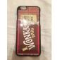 caso duro iphone 7 mais de chocolate de alumínio design para iPhone 6