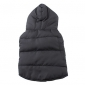 Chien Manteaux Gilet Gris Vêtements pour Chien Hiver Couleur Pleine Garder au chaud