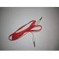 3.5mm mâle à mâle Audio Connection câble plat Type Rouge (1.5m)