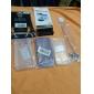 TPU Soft Shell avec étui prise de la poussière pour iPhone 4/4S (couleurs assorties)