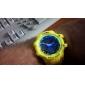Relógio Casual Relogio digital Digital Banda Branco Laranja Amarelo Azul
