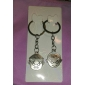 Key Chain Circular Lovely Key Chain Silver Metal
