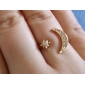 Shixin® Fashion Women's Crystal Alloy Statement Ring  (Golden)(1 Pc)