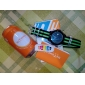Men's Sport Watch Quartz Japanese Quartz Calendar Water Resistant / Water Proof Fabric Band Blue Red Orange Green Brand