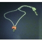 Feminino Colares com Pendentes Cristal Formato de Laço Acrílico Liga Jóias Para Diário