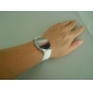 Women's Round Mirror Surface LED Digital Silicone Band Wrist Watch (Assorted Colors)