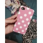 Cute Round Dots Pattern Matte TPU Soft Case for iPhone 4/4S (Assorted Colors)