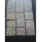 40PCS Mixs tipo estilo Flor Nail Art Stickers