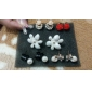 Stud Earrings Crystal Enamel Alloy Flower Jewelry Daily