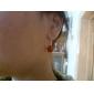 여성 드랍 귀걸이 합성 보석 펄 스탈링 실버 보석류 제품 일상