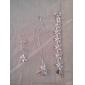 сладкий посеребренные (ожерелье и кольцо и серьги и браслет) комплект ювелирных изделий (серебро)