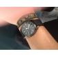 Hommes Montre Militaire Montre Bracelet Etanche Quartz Tissu Bande Noir Vert