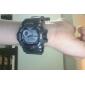 SKMEI 남성용 손목 시계 디지털 LCD 달력 크로노그래프 방수 경보 고무 밴드 블랙 그린
