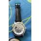 WINNER Hommes Montre Bracelet Montre mécanique Remontage manuel Gravure ajourée Polyuréthane Bande Luxe Noir Blanc Noir Bleu