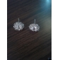 Stud Earrings Stainless Steel Simulated Diamond Jewelry Daily 2pcs