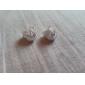 Femme Boucles d'oreille goujon Mariée Elegant bijoux de fantaisie Plaqué argent Alliage Bijoux Bijoux Pour Mariage Soirée Quotidien