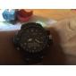 SKMEI Homme Montre de Sport Quartz Quartz Japonais LCD Calendrier Chronographe Etanche Double Fuseaux Horaires penggera Caoutchouc Bande