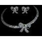 Bijoux Colliers décoratifs / Boucles d'oreille Soirée / Quotidien Cristal / Alliage / Plaqué argent Femme Doré / Argent Cadeaux de mariage
